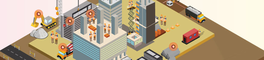 construction workplace safety ; Wireless asset & workforce tracking in construction in Singapore