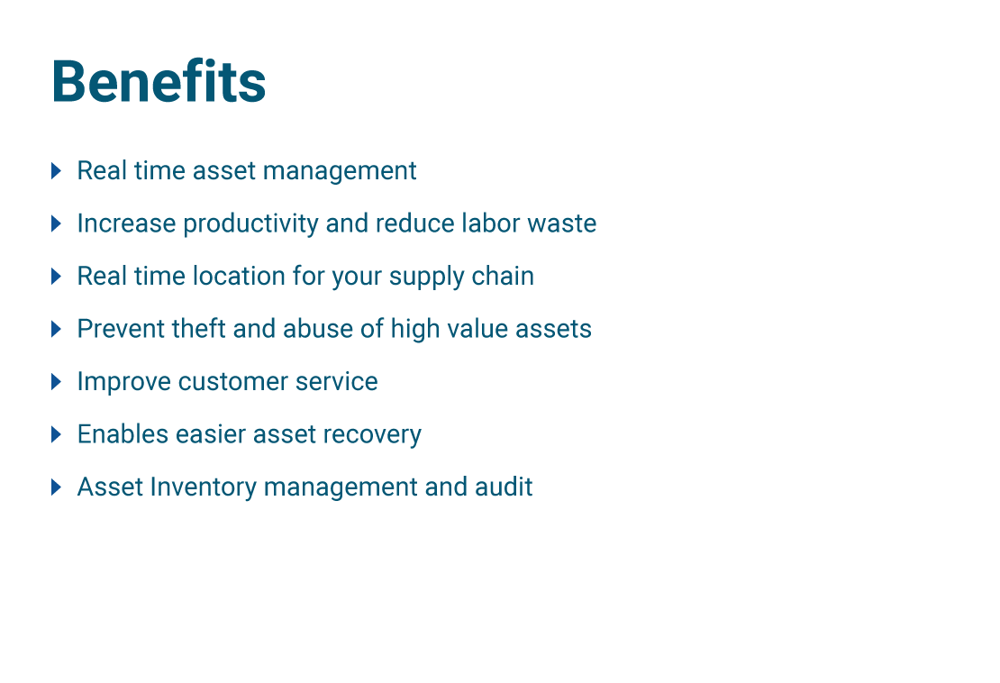 Asset Tracking Solutions - Benefits